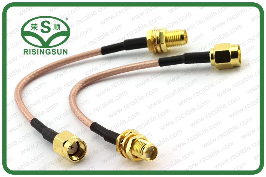 RG316 Coaxial Cable With RP-SMA Male to RP-SMA Female